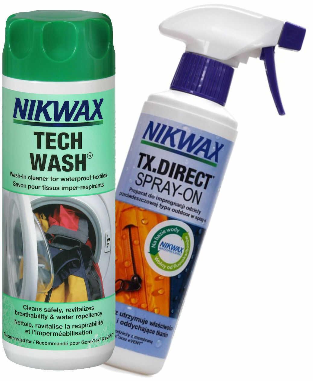 Zestaw Nikwax Tech Wash + TX.Direct Spray-on 2x300ml