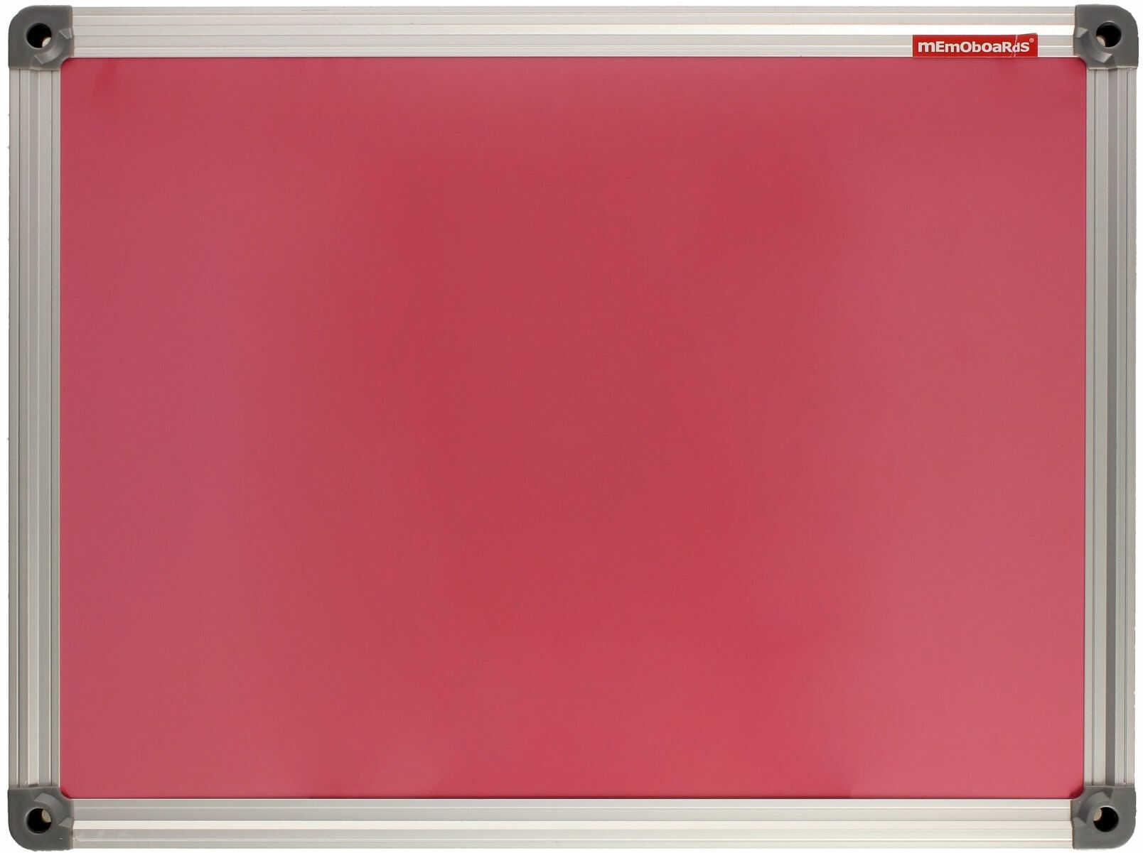 Tablica suchościeralno-magnetyczna 30x40 różowa ALU Memoboards