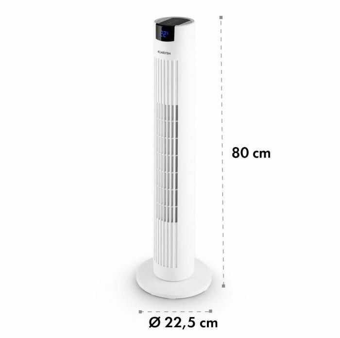 Klarstein Skyscraper 2G wentylator kolumnowy 40W zapach panel dotykowy pilot zdalnej obsługi biały