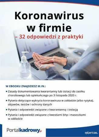 Koronawirus w firmie - 32 odpowiedzi na pytania pracodawców - Ebook.