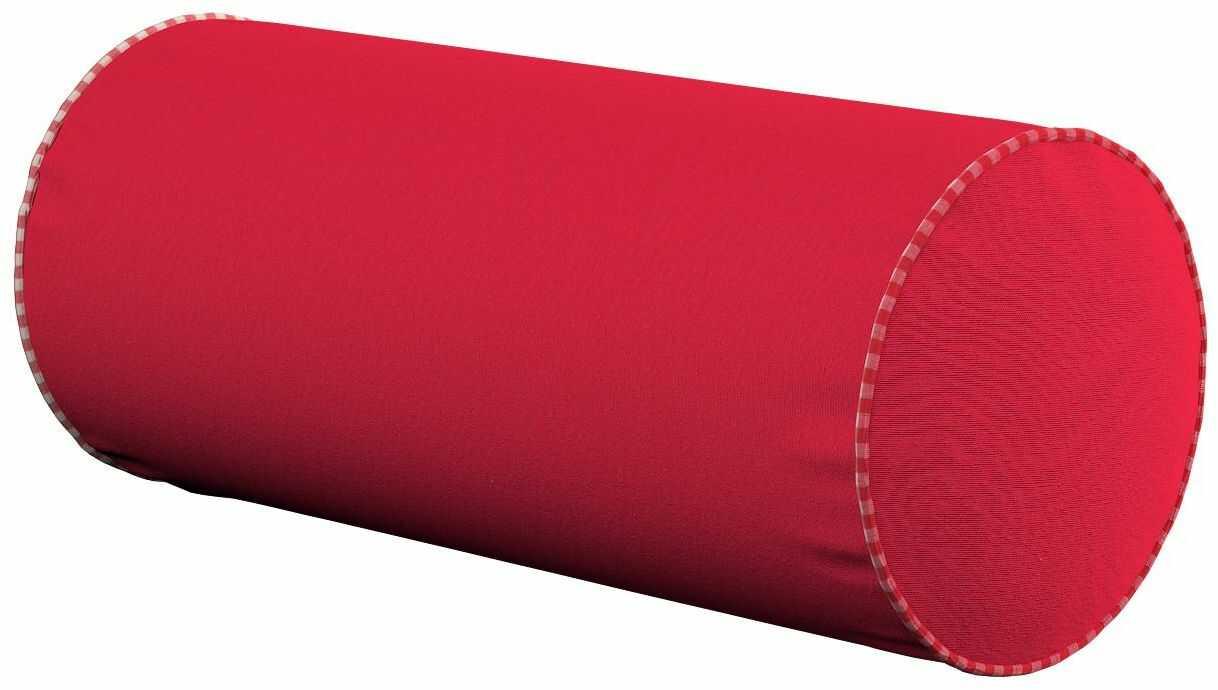 Poduszka wałek prosty, czerwony, Ø16  40 cm, Quadro
