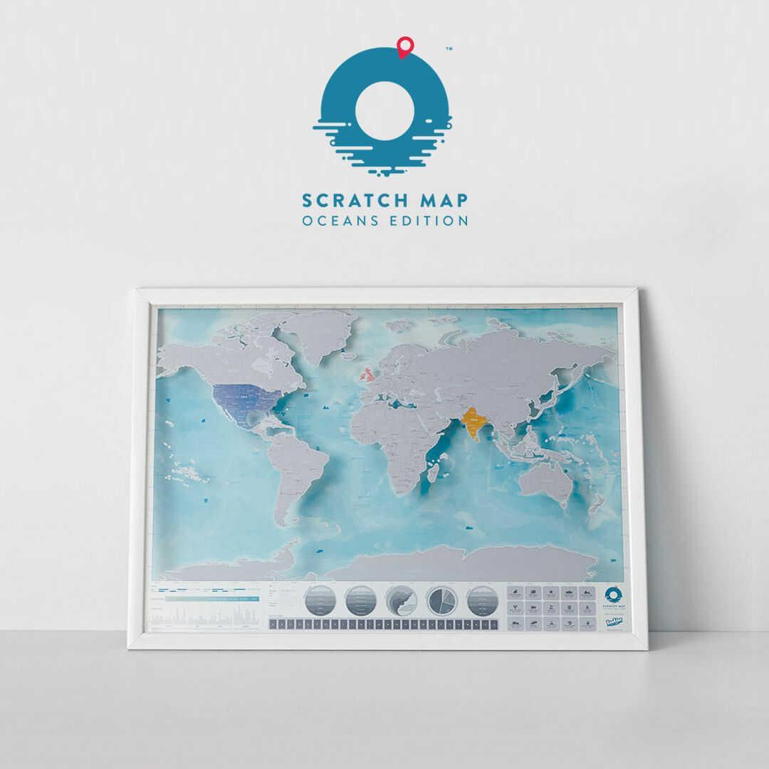Mapa Zdrapka Oceany
