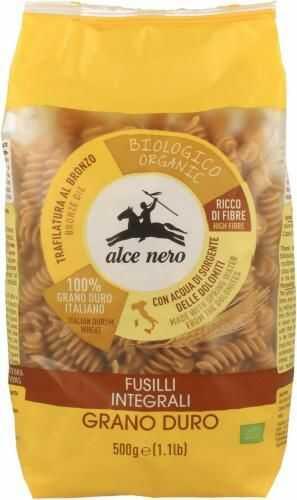 Makaron semolinowy RAZOWY FUSILLI BIO 500g Alce Nero