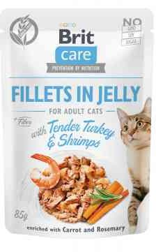 Brit Care Cat Tender Turkey & Shrimps in Jelly Indyk Krewetki 85 g
