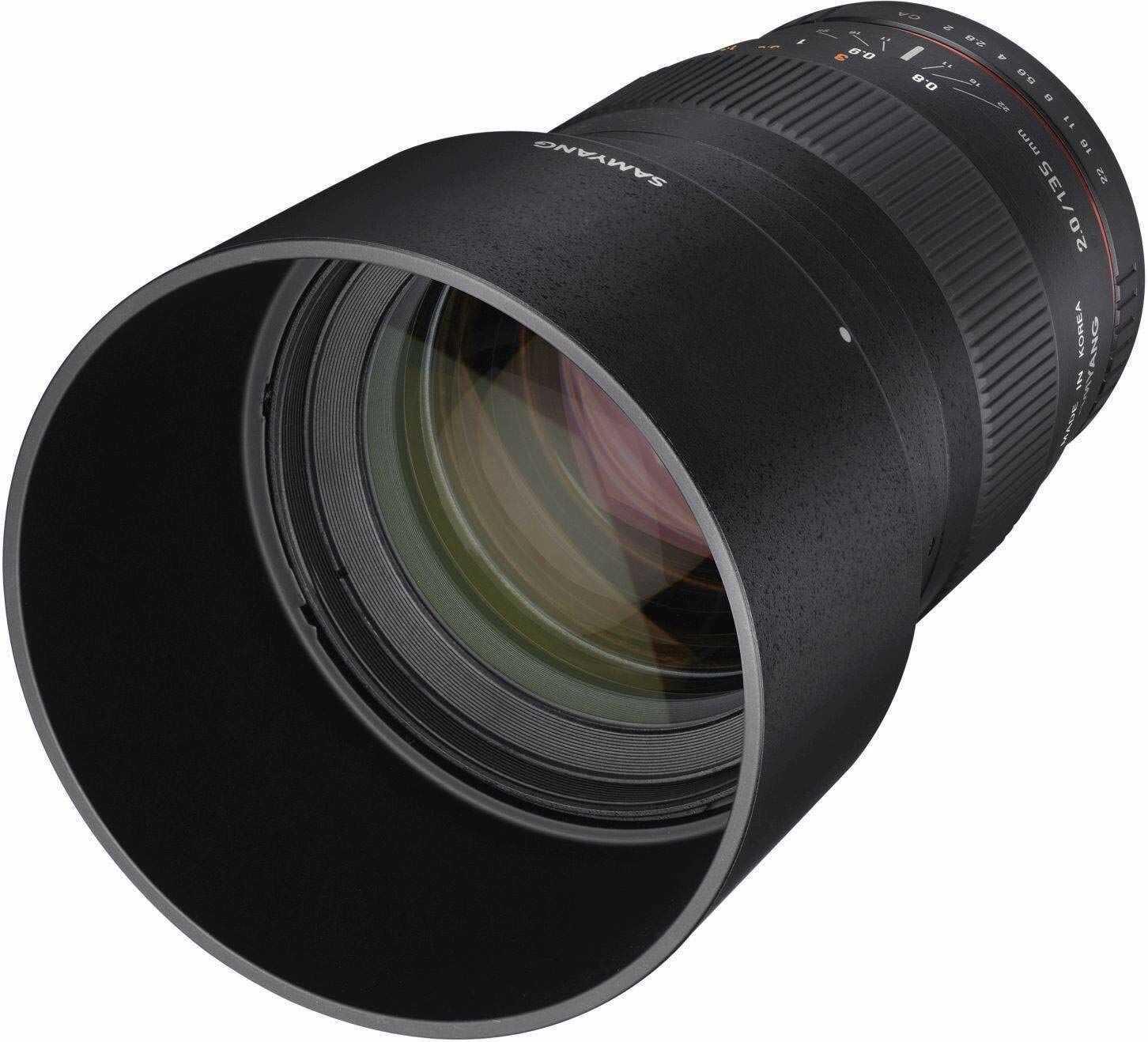 Samyang obiektyw 135 mm, F2.0, Nikon AE, czarny