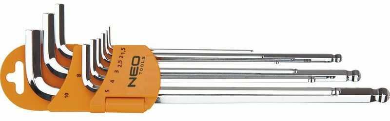Klucze sześciokątne 1,5-10mm 09-515 /zestaw 9 szt./