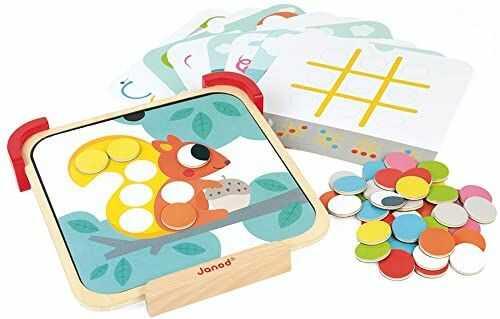"""Janod J05321 """"I Learn Colours"""" zabawka edukacyjna, magnetyczna, dla dzieci od 2 lat"""