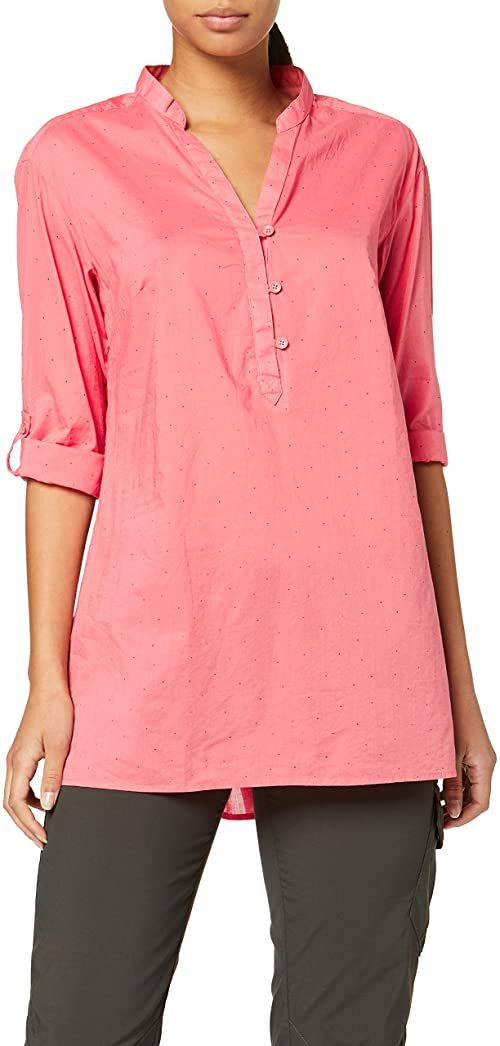 Columbia Early Tide Tunic Bluse, Coral Bloom Dot, S