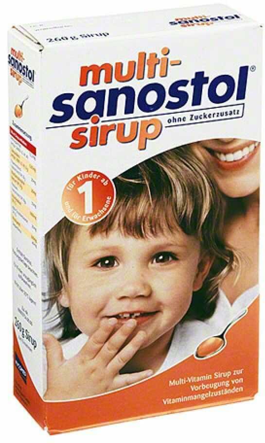 Multi Sanostol syrop bez dodatku cukru