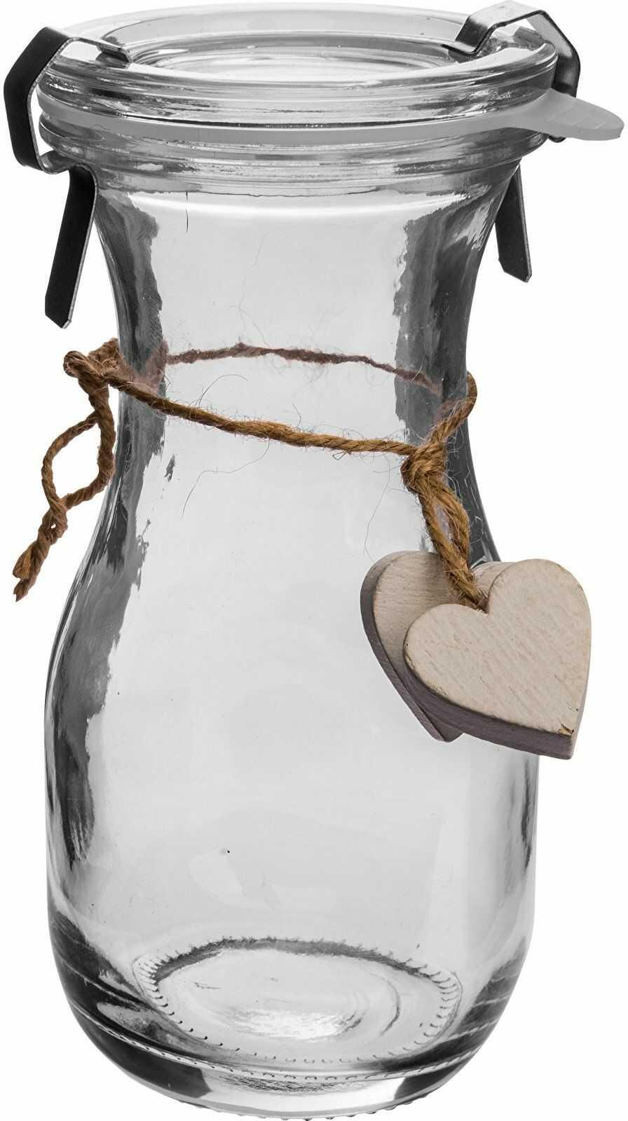 Butelka Od Serca - biała, z zamknięciem, 250ml