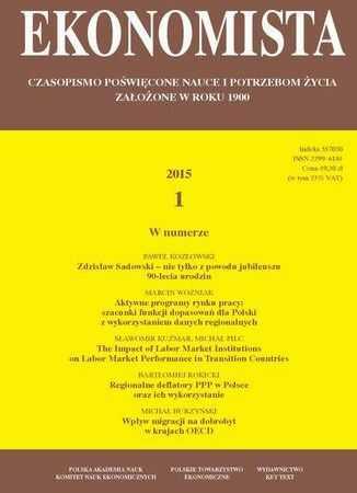 Ekonomista 2015 nr 1 - Ebook.