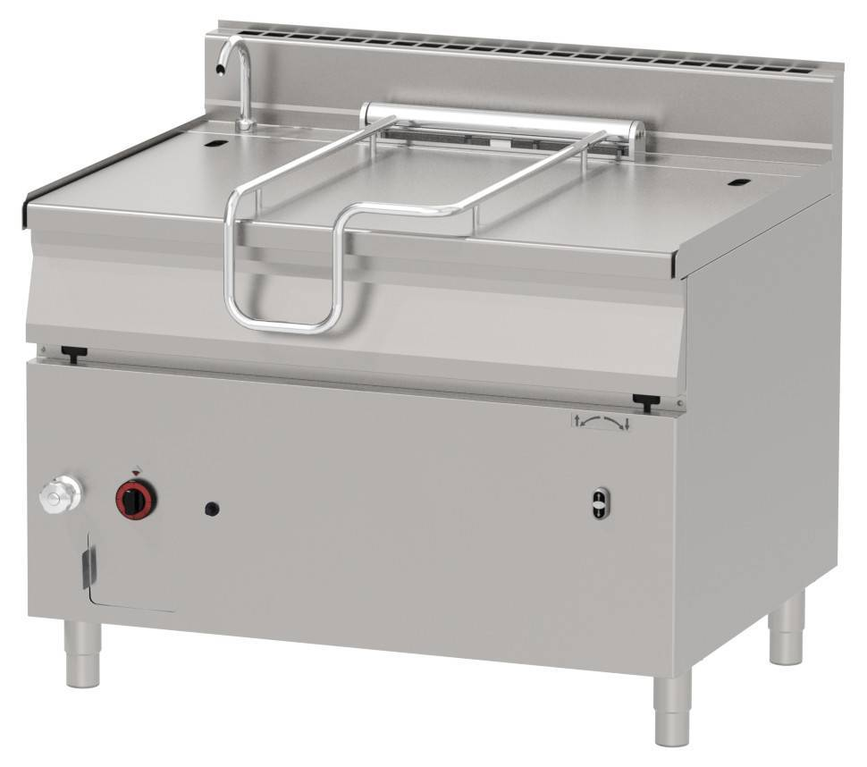 Patelnia gazowa z uchylaniem automatycznym 120L 30000W 1200x900x(H)900mm