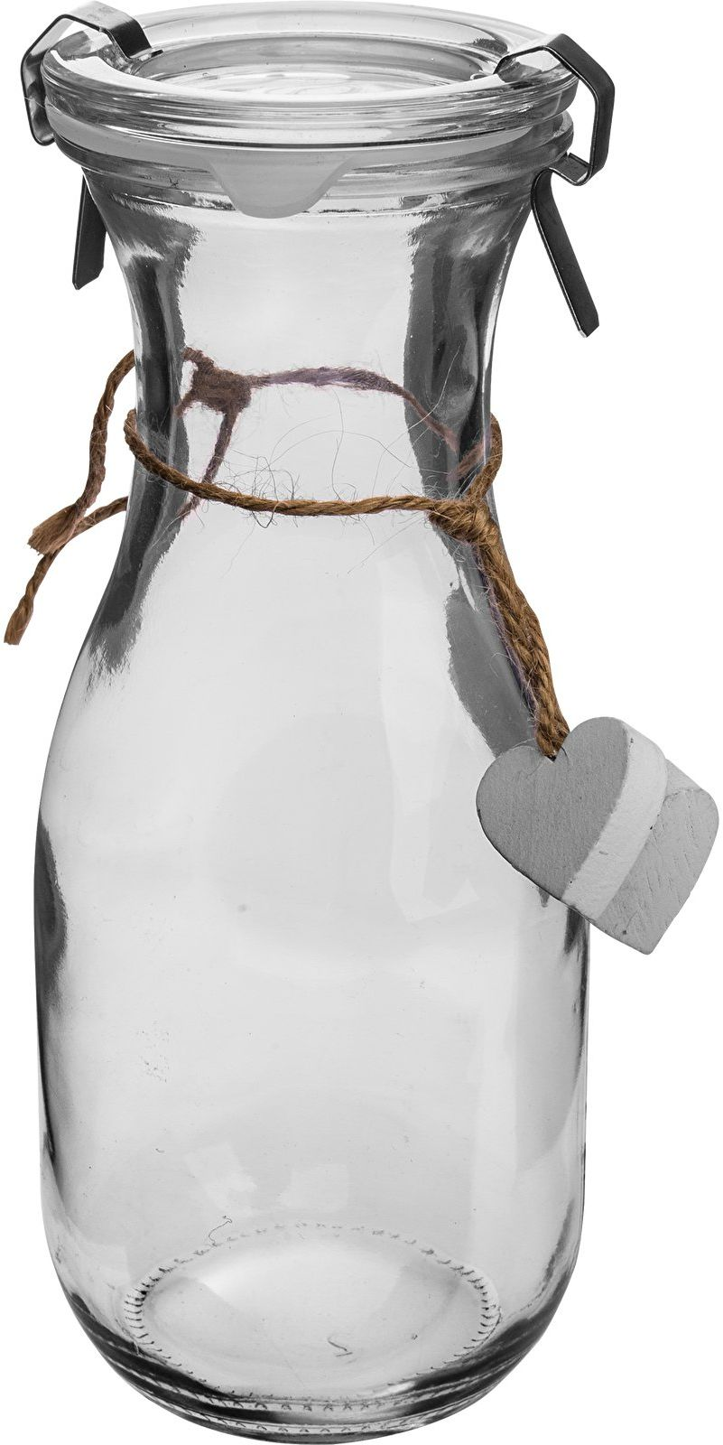 Butelka Od Serca - biała, z zamknięciem, 480ml
