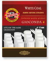 Koh i noor Gioconda Węgiel prasowany nr3 biały 4sz