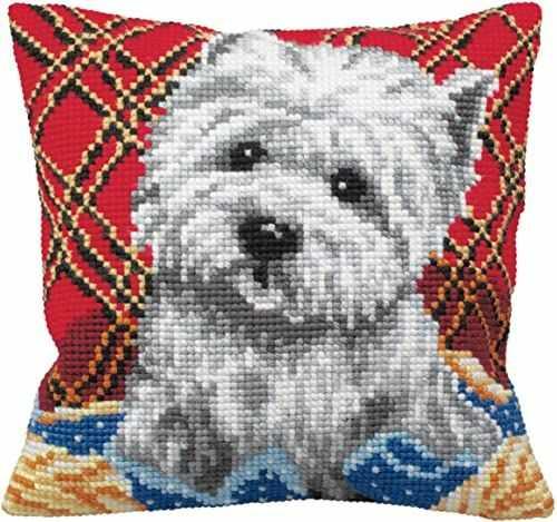 Kolekcja artystyczna poduszka z haftem krzyżykowym: Bichon