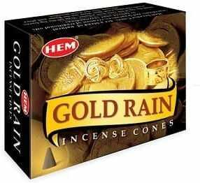 Kadzidełka Gold Rain Stożkowe Stożki HEM 10szt.