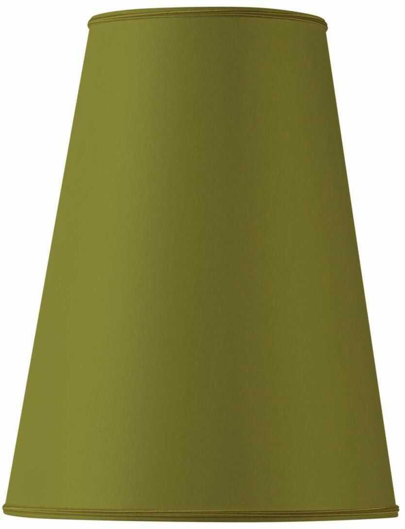 Klosz lampy w kształcie bistro, 15 x 08 x 22 cm, zielony/brąz