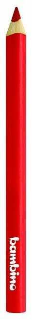 Kredka Bambino w drewnianej oprawie gruba trójkątna 5003745 5003646, Kolor: Czerwony