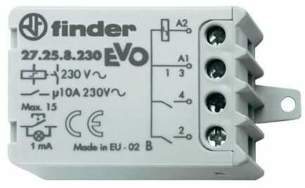 Przekaźnik impulsowy 2NO 10A 110V AC 27.25.8.110.0000