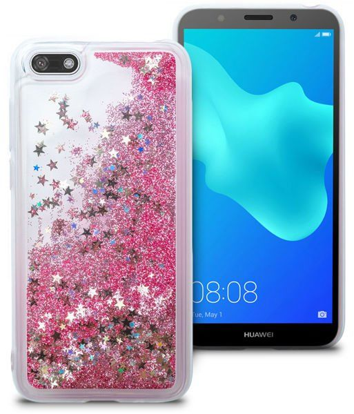 Etui liquid glitter Huawei Y5/ Y5 Prime 2018 brokat różowy