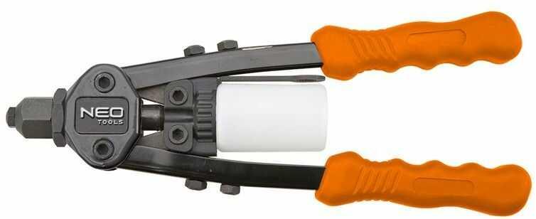 Nitownica czołowa do nitów stalowych i aluminiowych 2,4-3,2-4.0-4,8mm 18-107