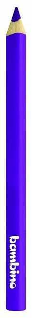 Kredka Bambino w drewnianej oprawie gruba trójkątna 5003646 5003707, Kolor: Fioletowy