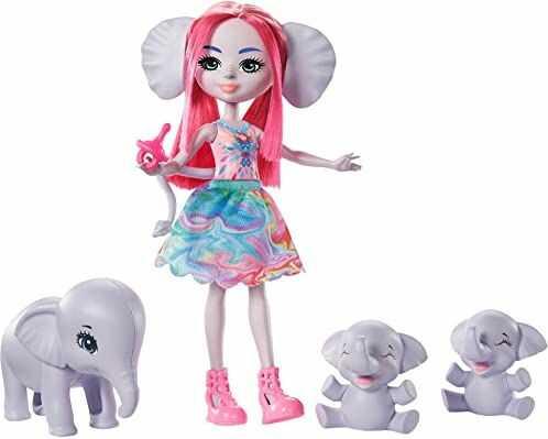 Enchantimals GTM30  rodzina słoni, zestaw do zabawy i lalki, zabawka dla dzieci od 4 lat
