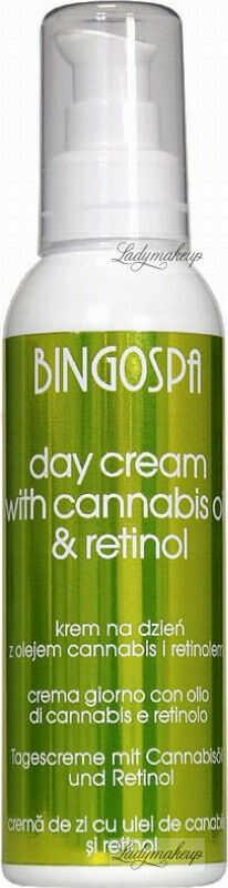 BINGOSPA - DAY CREAM - Krem do twarzy z olejkiem konopnym i retinolem - Dzień - 135 g