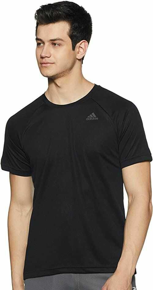 adidas Koszulka D2M koszulka Pl dla mężczyzn, czarna, M