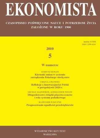 Ekonomista 2010 nr 5 - Ebook.