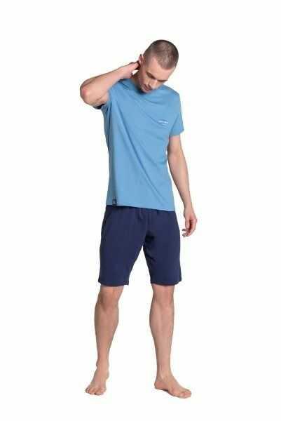 Esotiq-henderson duty 38881 niebieska piżama męska