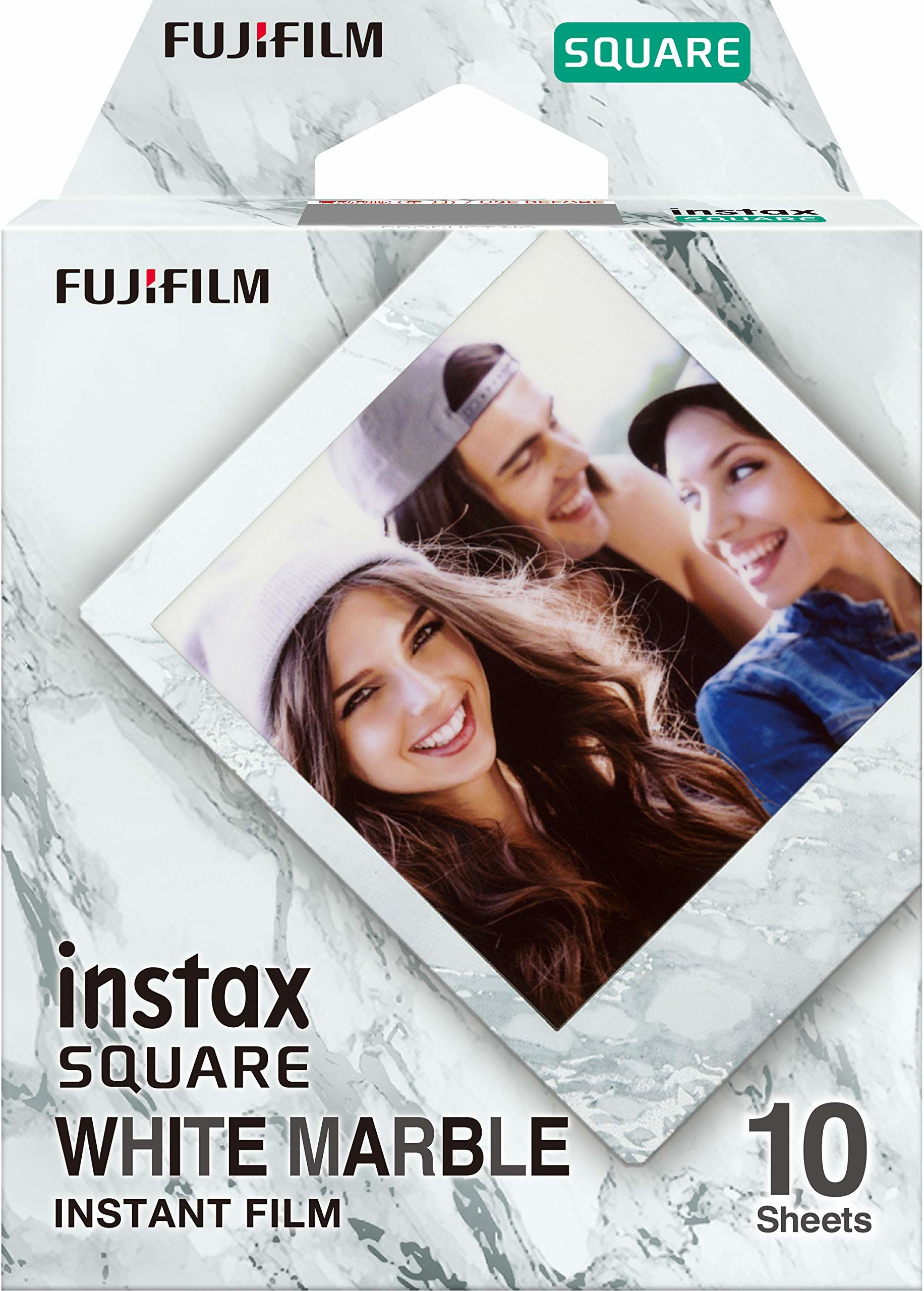INSTAX SQ WHITEMARBLE, 10 shot pack