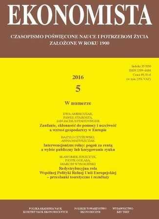 Ekonomista 2016 nr 5 - Ebook.