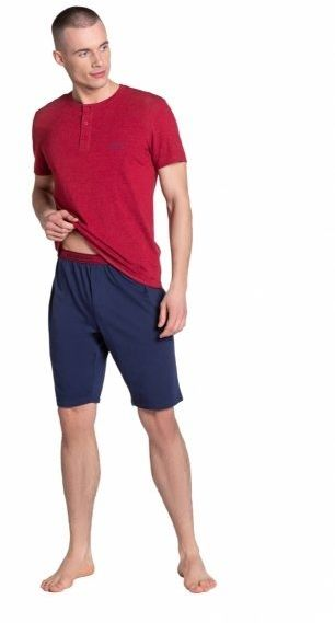 Esotiq-henderson dune 38879 czerwona piżama męska