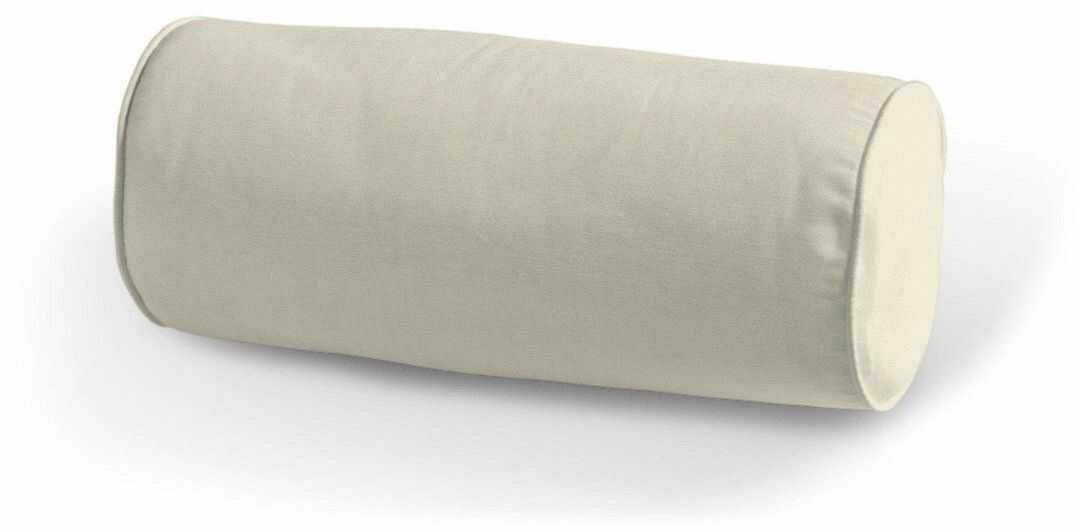 Poduszka wałek prosty, satynowa biel, Ø16  40 cm, Comics
