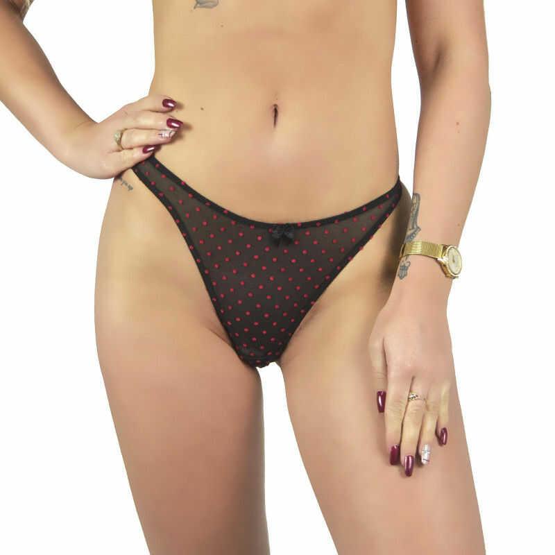 Stringi damskie seksowne kropki Beauty Senses BS001133