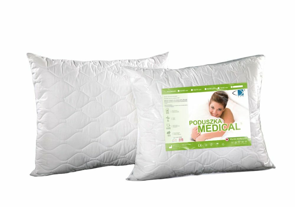 Poduszka antyalergiczna 70x80 Medical z zamkiem biała AMW