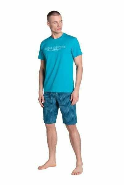 Esotiq-henderson dojo 38883 turkusowa piżama męska