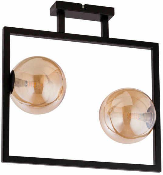 Lampa sufitowa ramka COSMIC 2 PLAFON czarny/bursztynowy 32128