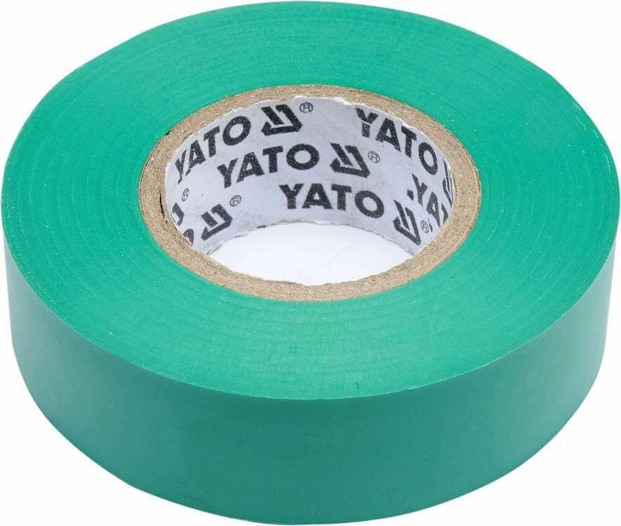 Taśma elektroizolacyjna 19mmx20mx0,13mm, zielona Yato YT-81652 - ZYSKAJ RABAT 30 ZŁ