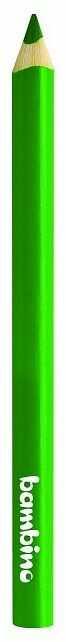 Kredka Bambino w drewnianej oprawie gruba trójkątna 5003653 5003677, Kolor: Zielona ciemna
