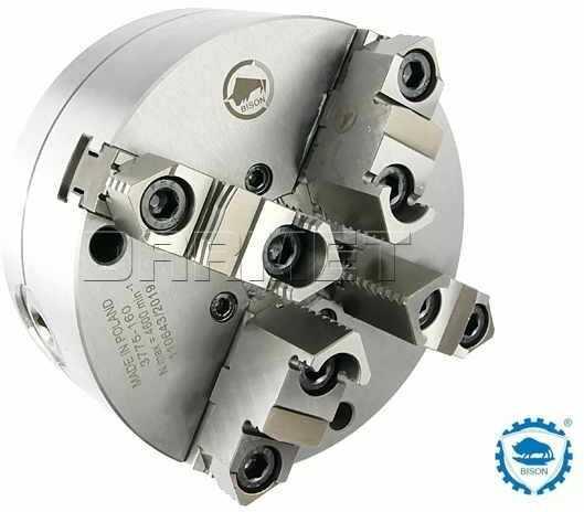 Uchwyt tokarski samocentrujący spiralny, stalowy, 4 - szczękowy: 160 MM (DIN 6350) - BISON BIAL (3775-160)