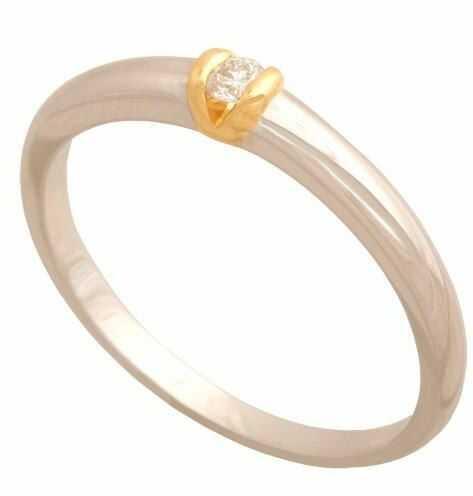 Złoty pierścionek z brylantem Dp118b