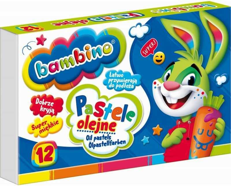 Pastele olejne 12 kolorów Bambino 5003110