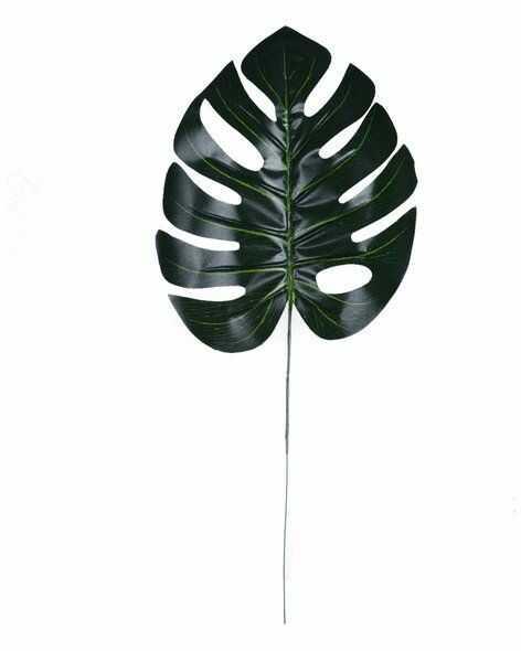 Monstera sztuczny liść palmowy ciemnozielony 50cm 1 sztuka VC1719