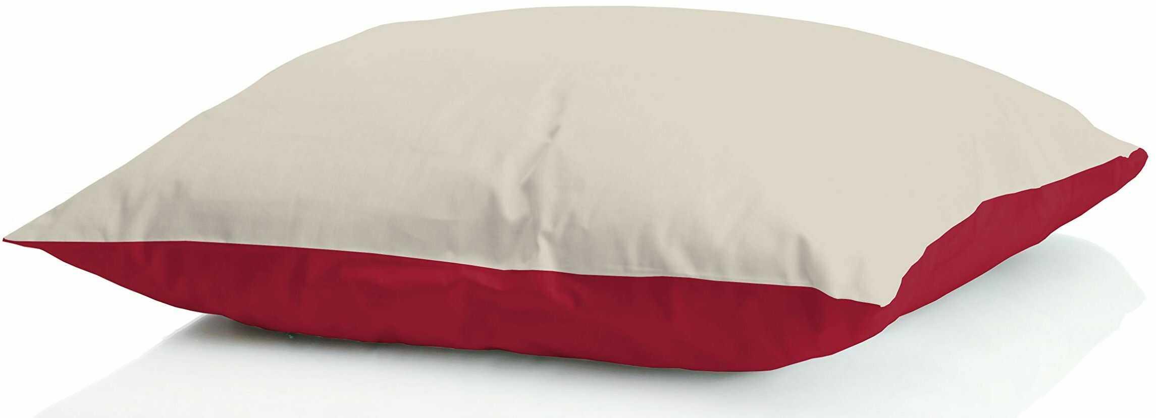 Sogni e capricci GUANC ICELAND panna poduszka z puchem zimowym, 50 x 80 cm, bordowa/kremowa