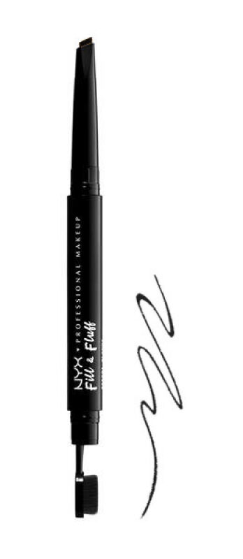 NYX Professional Makeup - Fill & Fluff Eyebrow Pomade Pencil - Pomada w kredce do wypełniania brwi - BLACK