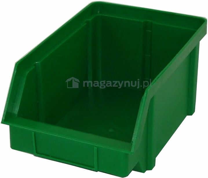 Pojemnik warsztatowy z polipropylenu standardowego, wym. 157 x 101 x 74 mm (Kolor zielony)