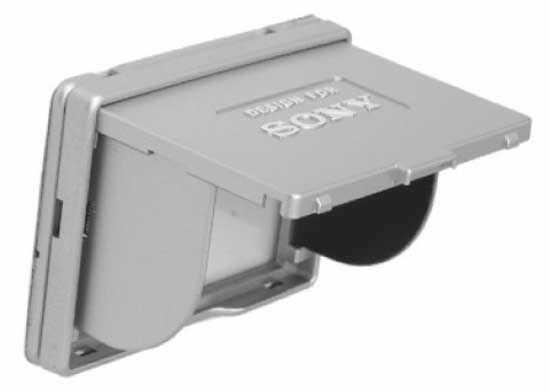 """Osłona wyświetlacza LCD Sony 2.5"""" srebrna"""