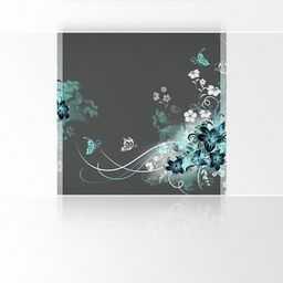 Lana KK fototapeta z miłością plakat tapeta, szlachetny druk artystyczny na tapecie flizelinowej o wymiarach 180 x 180 cm, szaro-turkusowa